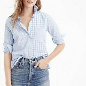 J. Crew Gingham Cocktail Boy Shirt 0